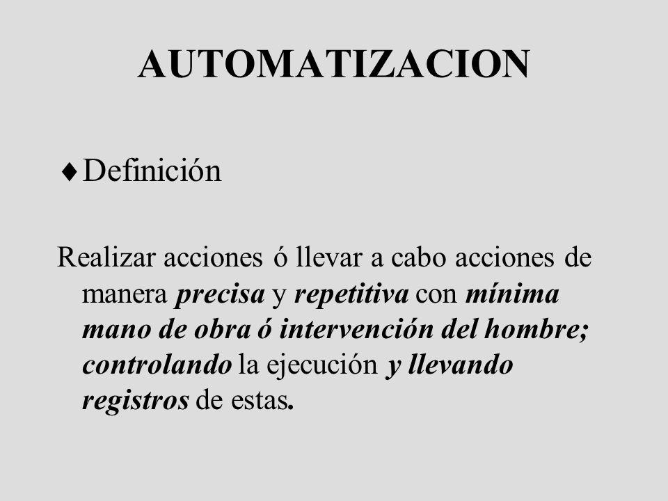 AUTOMATIZACION Definición