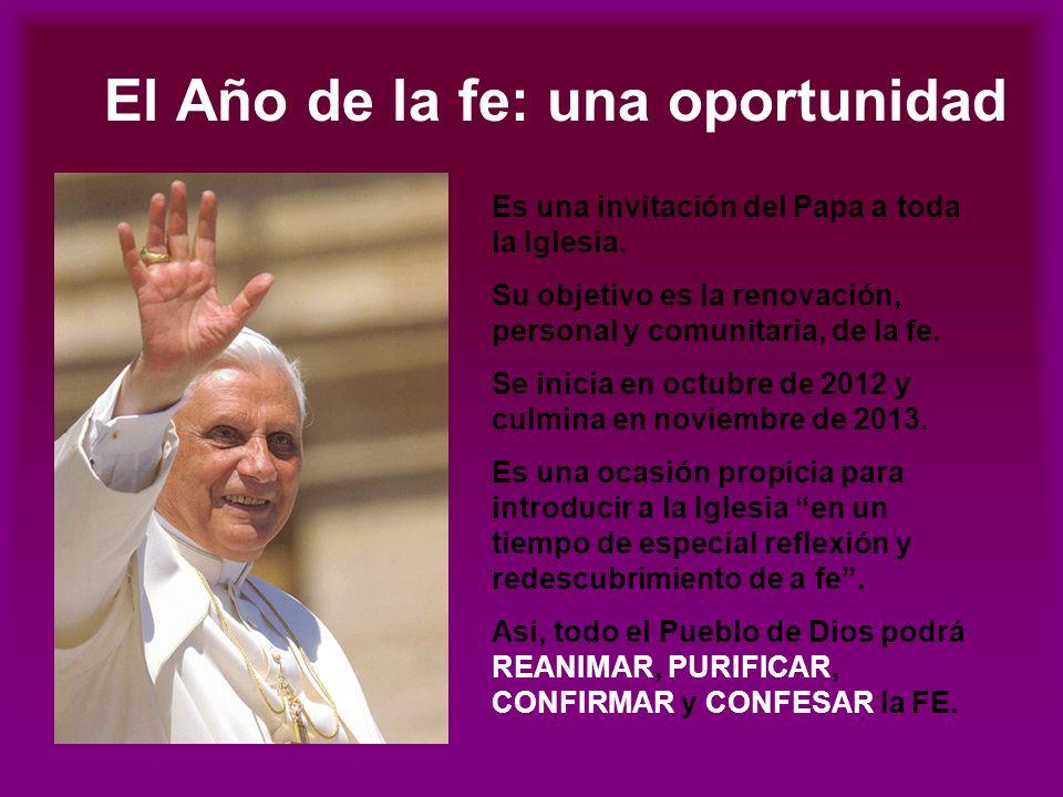 El Año de la fe: una oportunidad