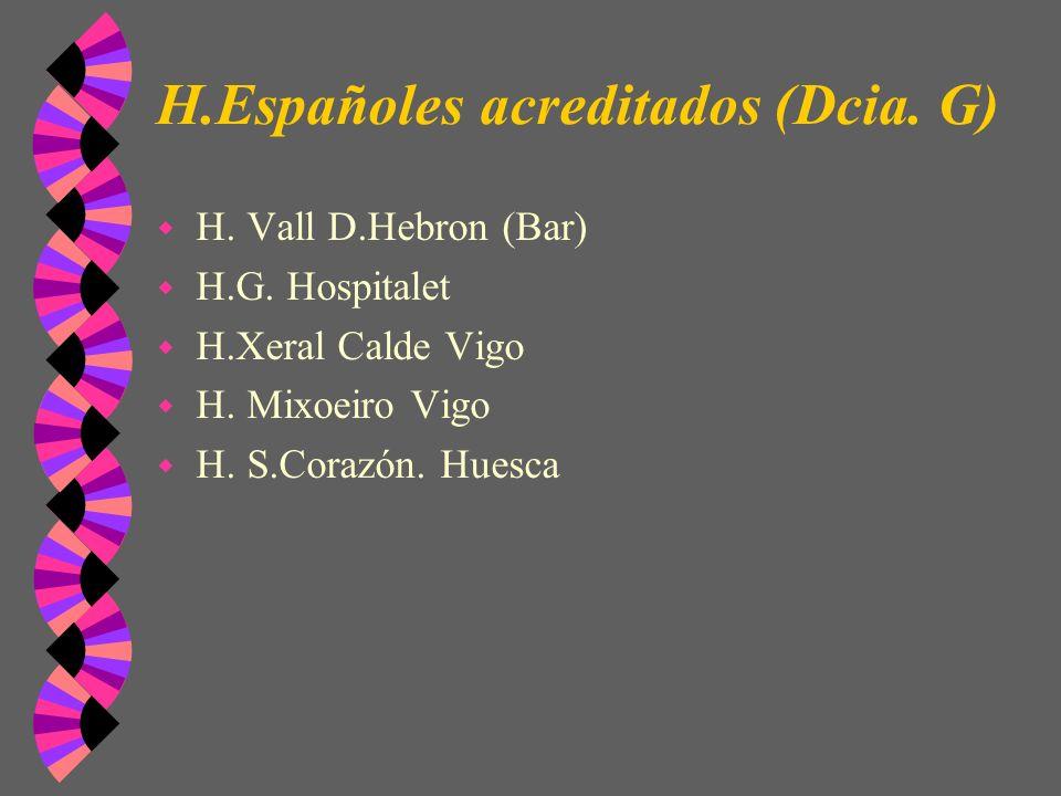 H.Españoles acreditados (Dcia. G)