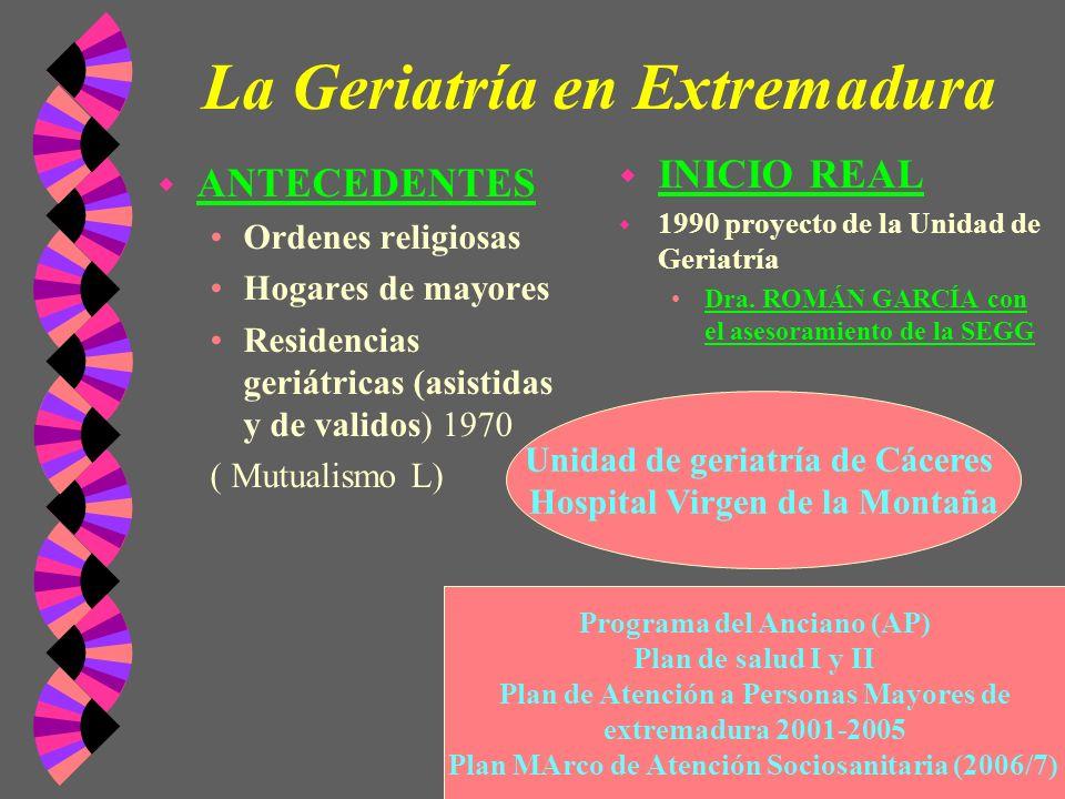 La Geriatría en Extremadura