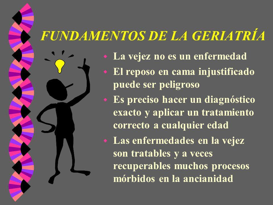 FUNDAMENTOS DE LA GERIATRÍA