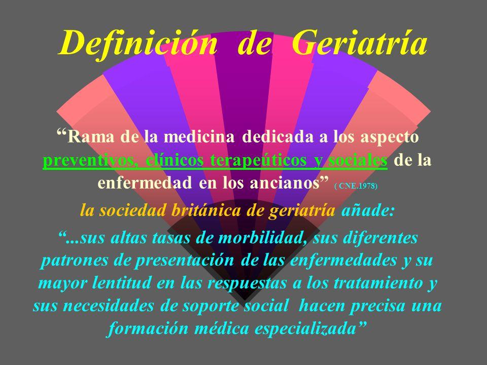 Definición de Geriatría