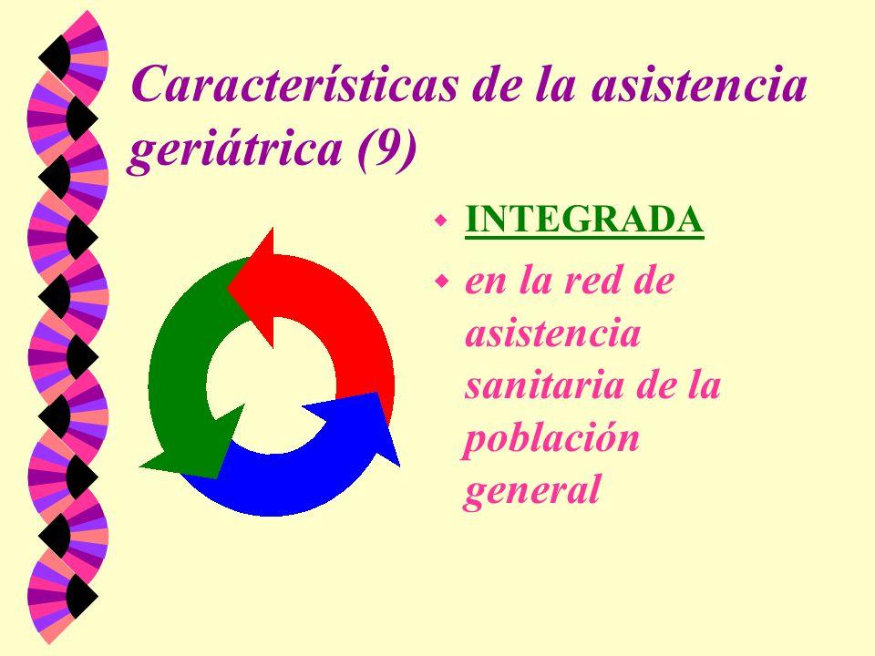 Características de la asistencia geriátrica (9)