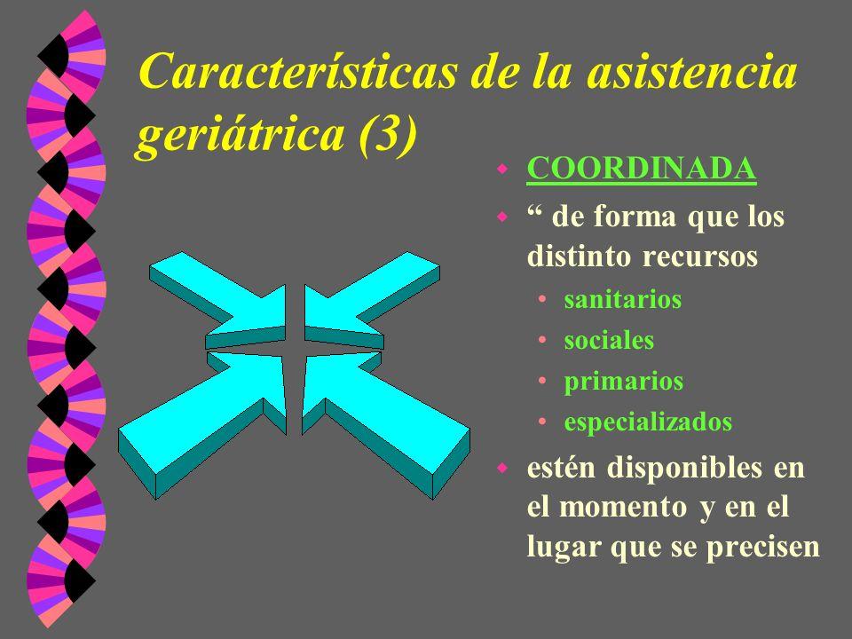 Características de la asistencia geriátrica (3)