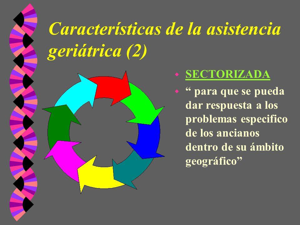 Características de la asistencia geriátrica (2)