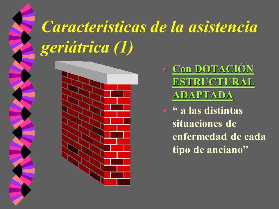 Características de la asistencia geriátrica (1)