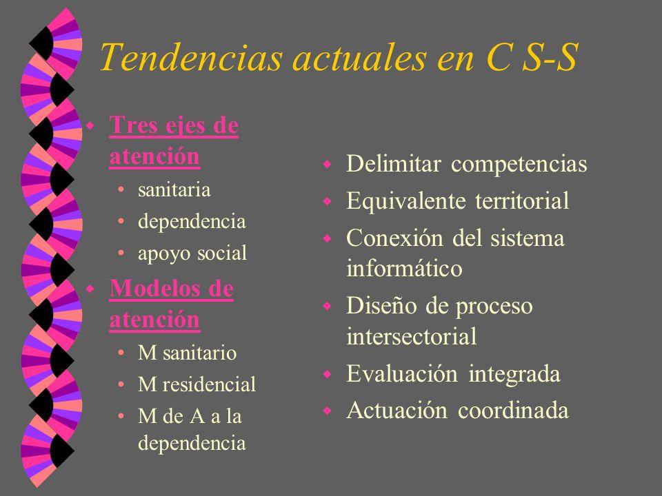Tendencias actuales en C S-S