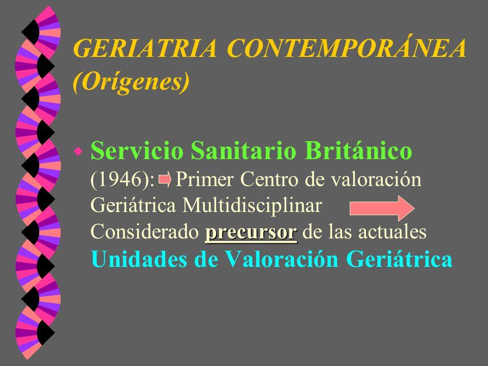 GERIATRIA CONTEMPORÁNEA (Orígenes)