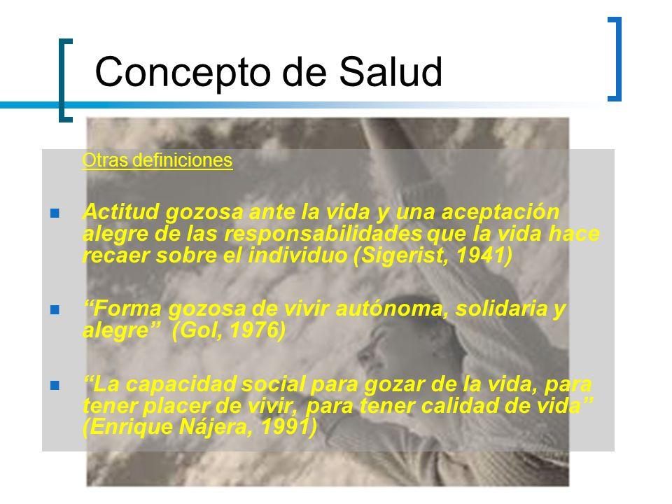 Concepto de Salud Otras definiciones.