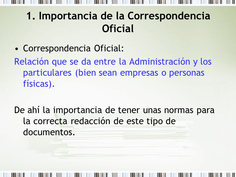 Correspondecia oficial ppt video online descargar for Importancia de la oficina