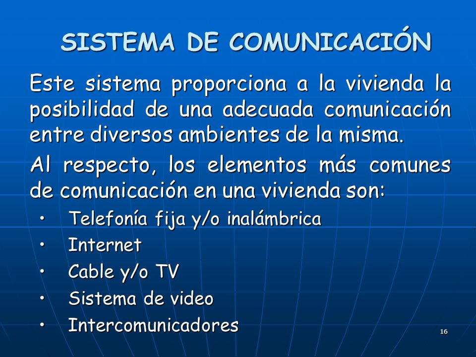 SISTEMA DE COMUNICACIÓN