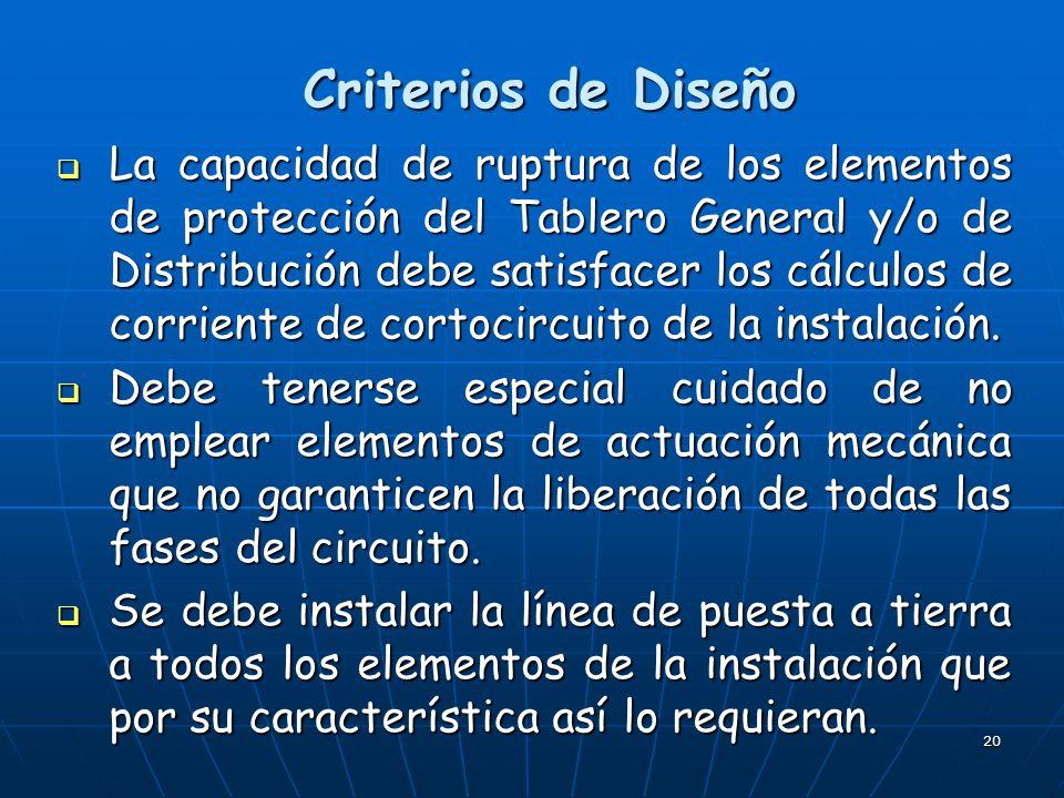 Criterios de Diseño