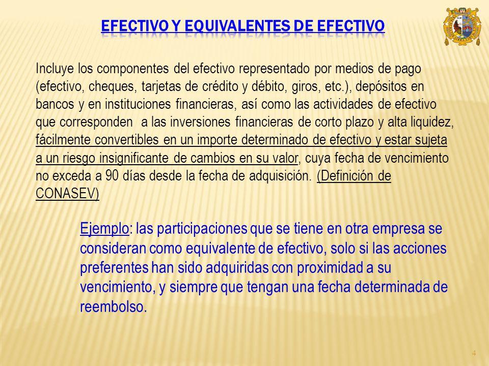 Efectivo y equivalentes de efectivo