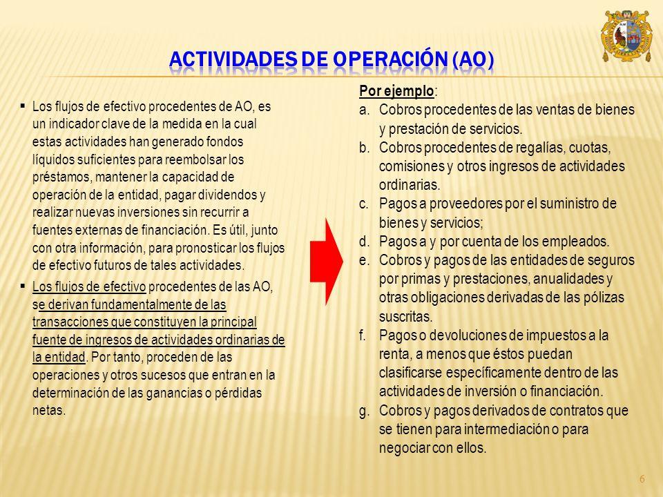 Actividades de operación (AO)