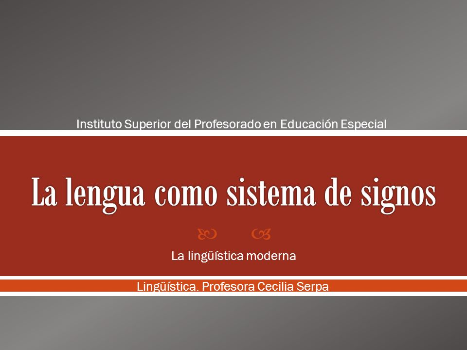 La lengua como sistema de signos