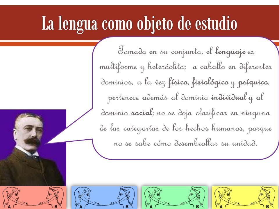 La lengua como objeto de estudio