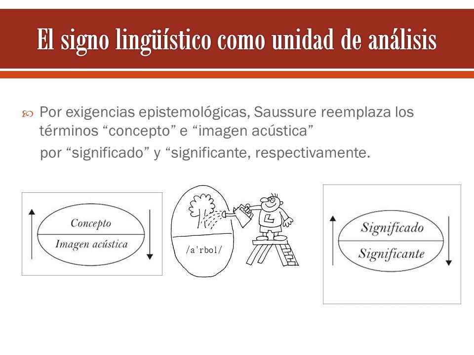 El signo lingüístico como unidad de análisis