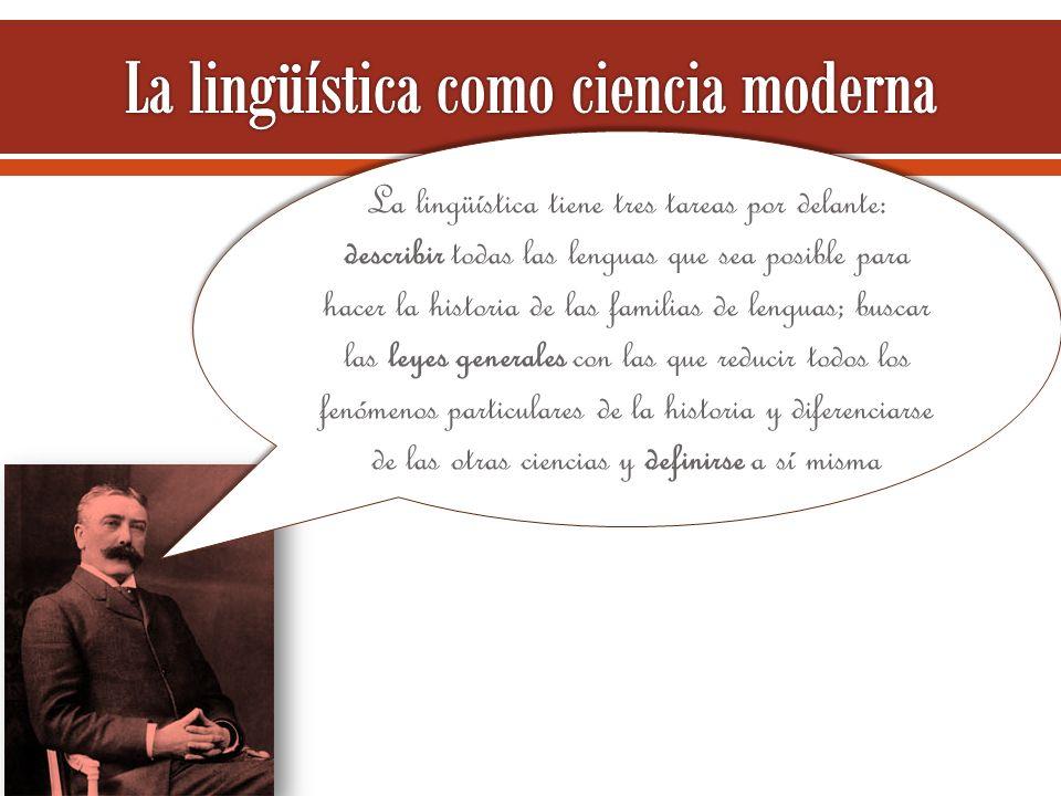 La lingüística como ciencia moderna