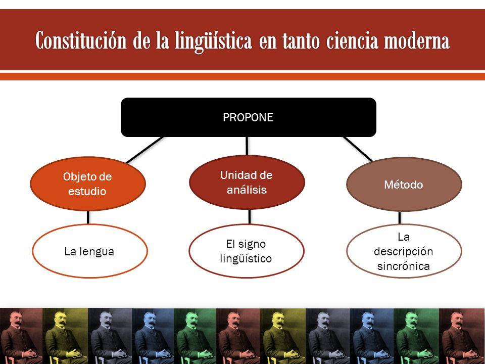Constitución de la lingüística en tanto ciencia moderna