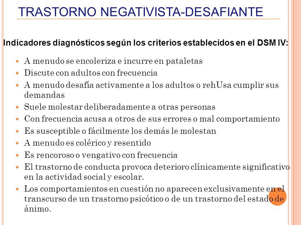 TRASTORNO NEGATIVISTA-DESAFIANTE