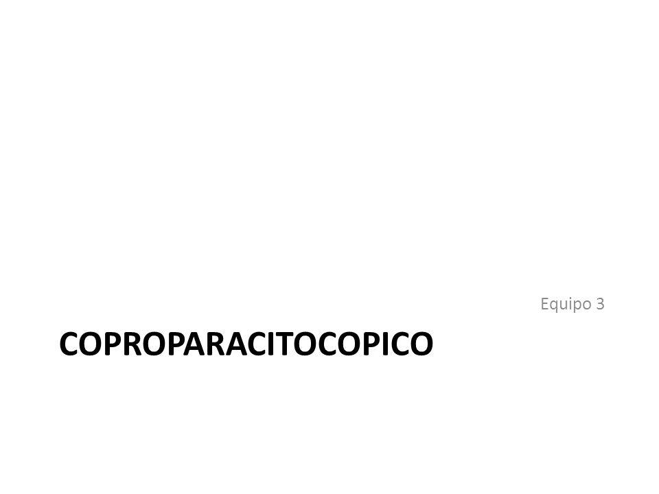 Equipo 3 COPROPARACITOCOPICO