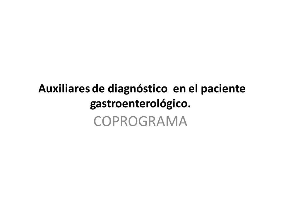 Auxiliares de diagnóstico en el paciente gastroenterológico.