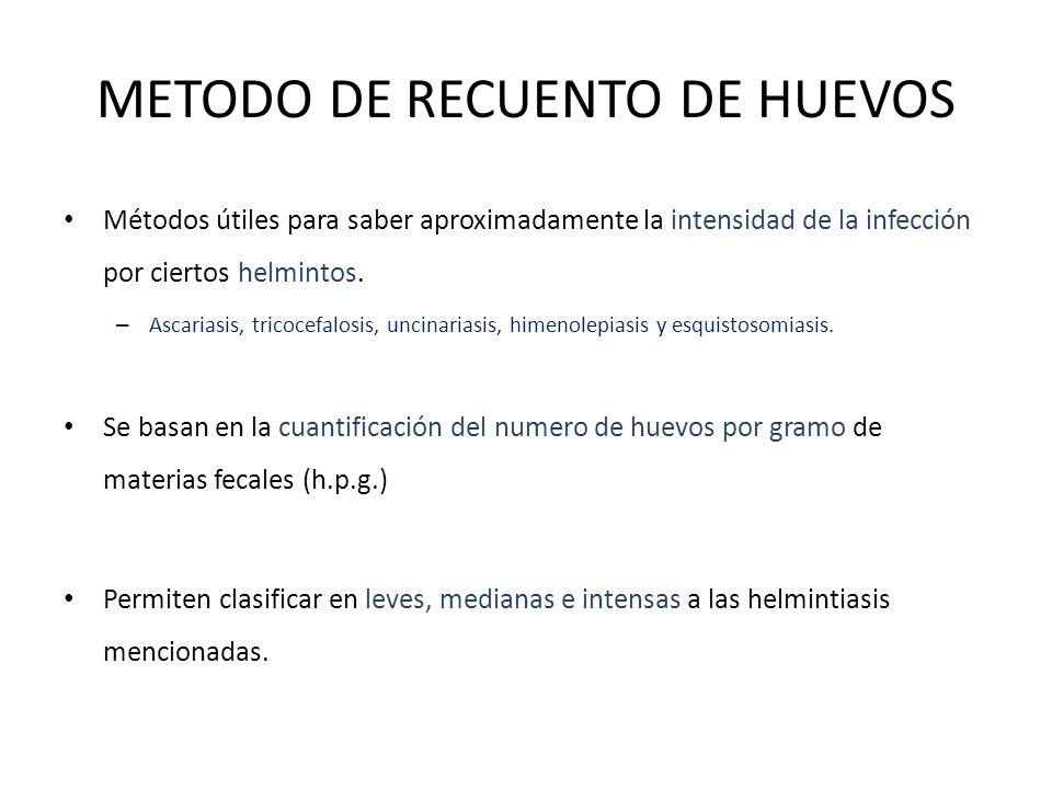 METODO DE RECUENTO DE HUEVOS