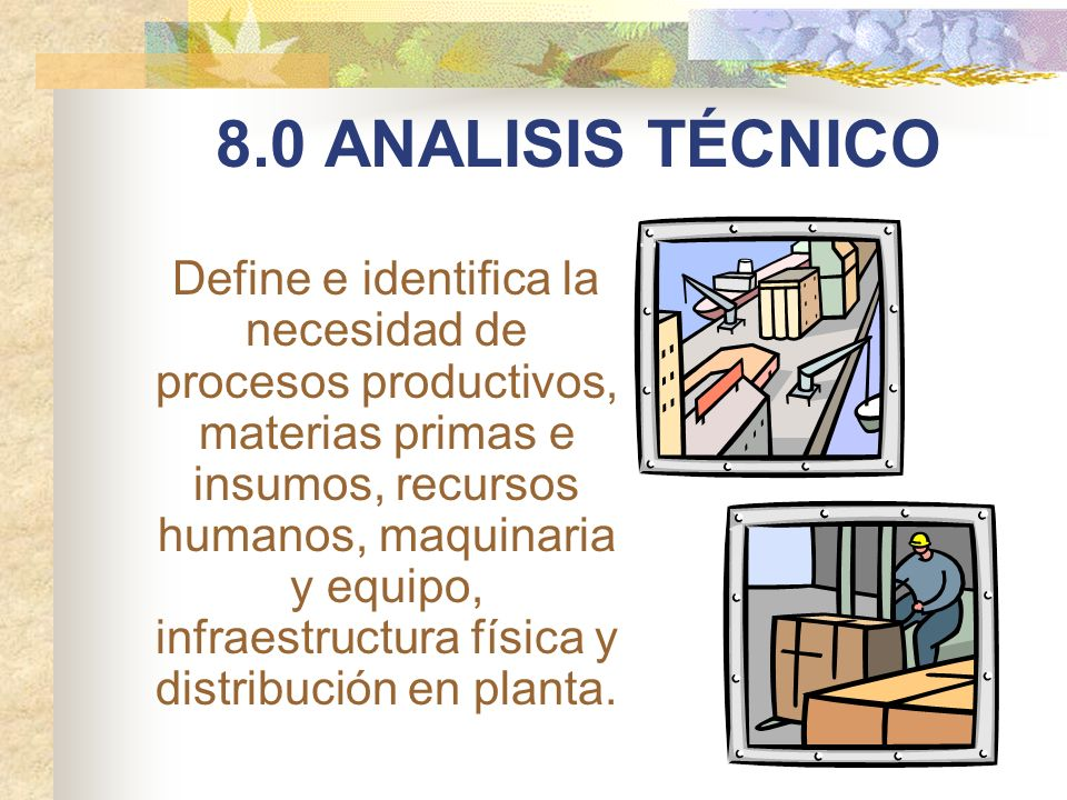 8.0 ANALISIS TÉCNICO