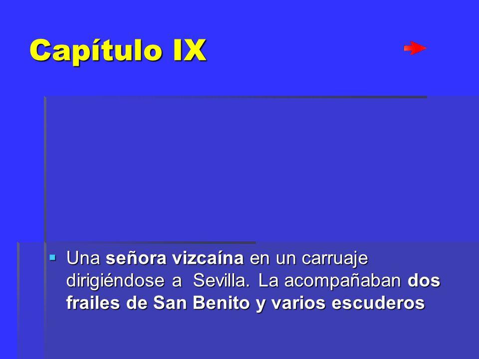 Capítulo IX Una señora vizcaína en un carruaje dirigiéndose a Sevilla.