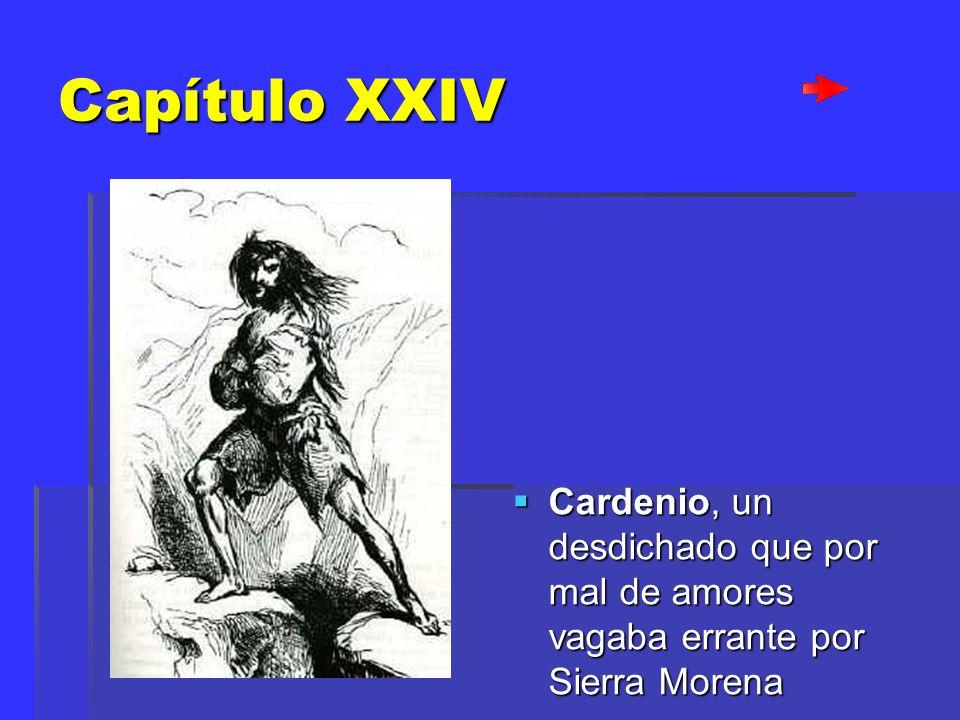 Capítulo XXIV Cardenio, un desdichado que por mal de amores vagaba errante por Sierra Morena