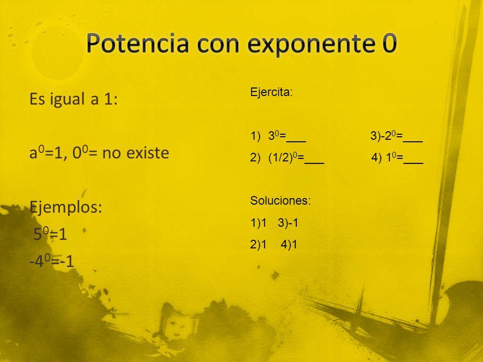 Potencia con exponente 0