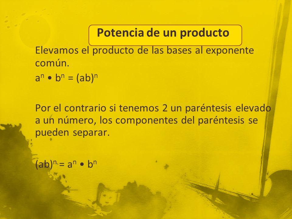 Potencia de un producto