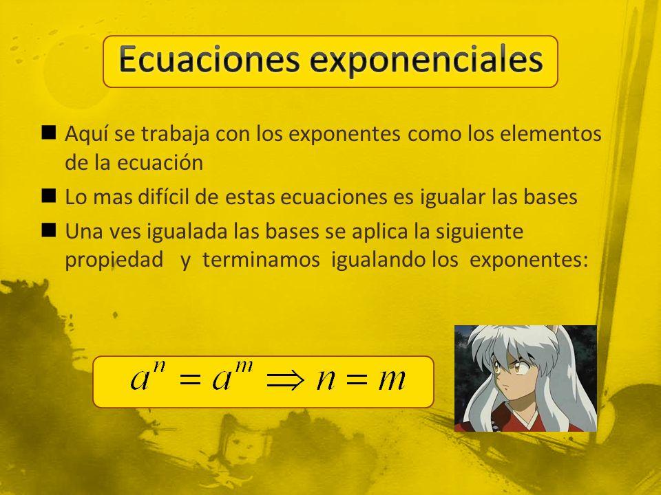 Ecuaciones exponenciales