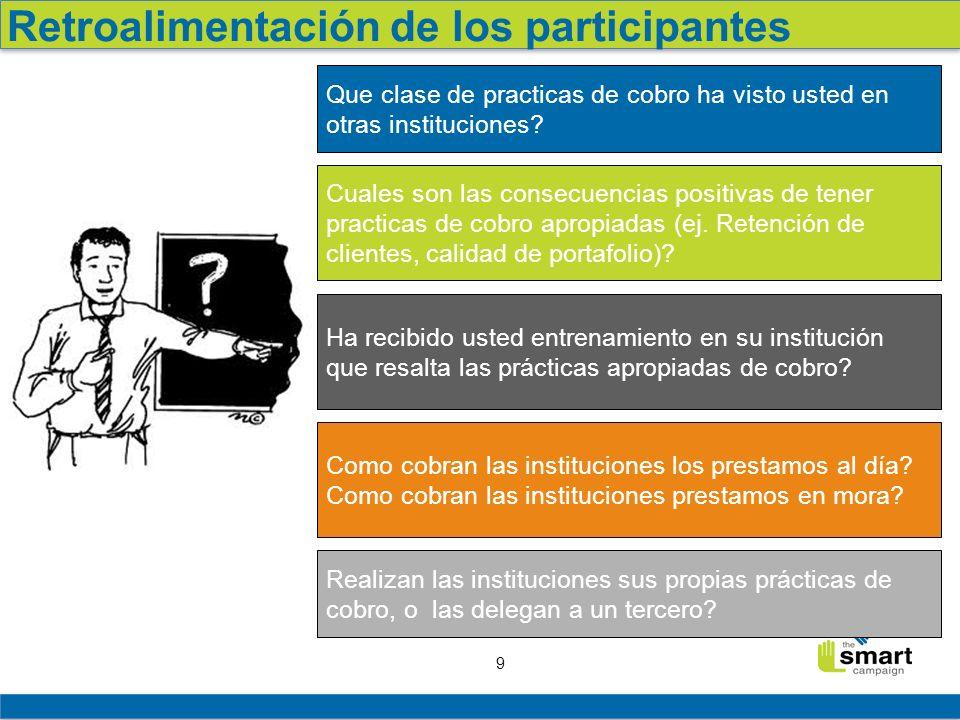 Retroalimentación de los participantes
