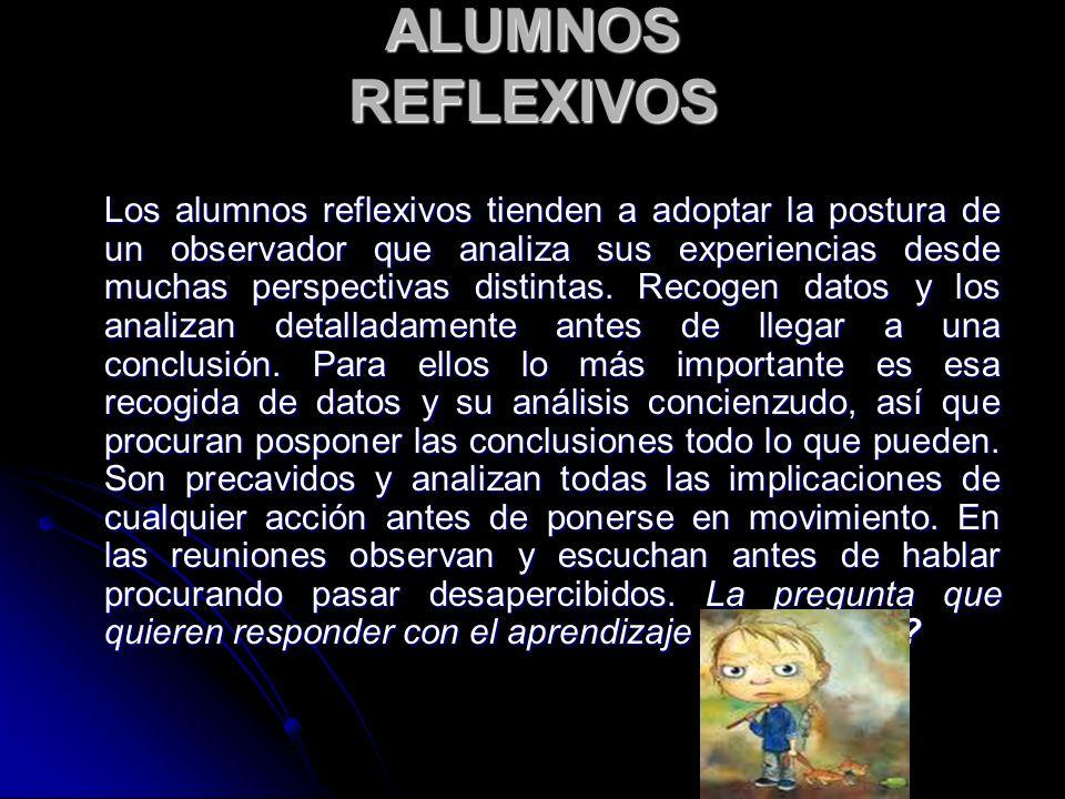 ALUMNOS REFLEXIVOS