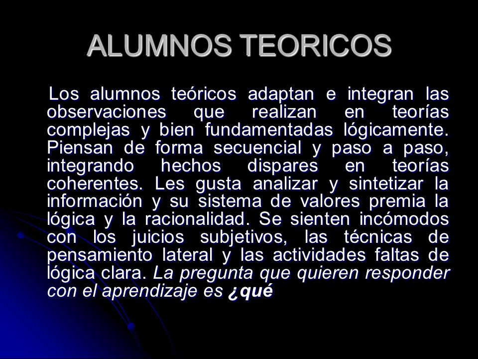 ALUMNOS TEORICOS