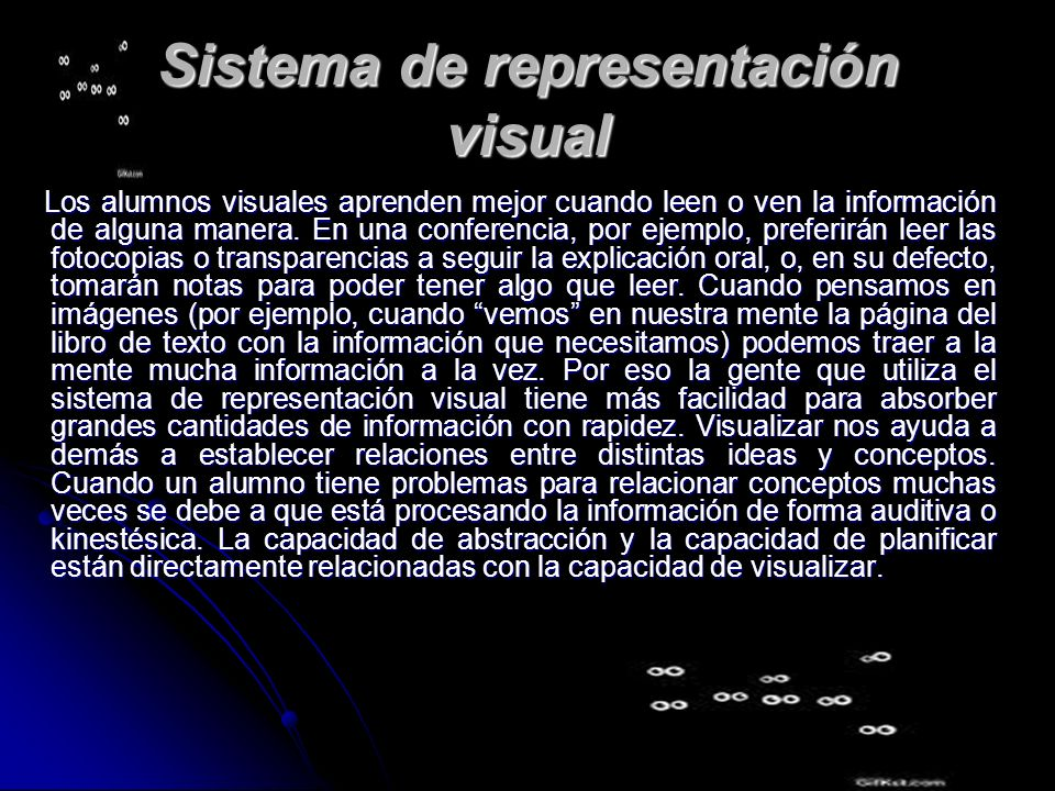 Sistema de representación visual