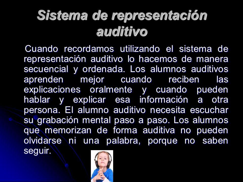 Sistema de representación auditivo
