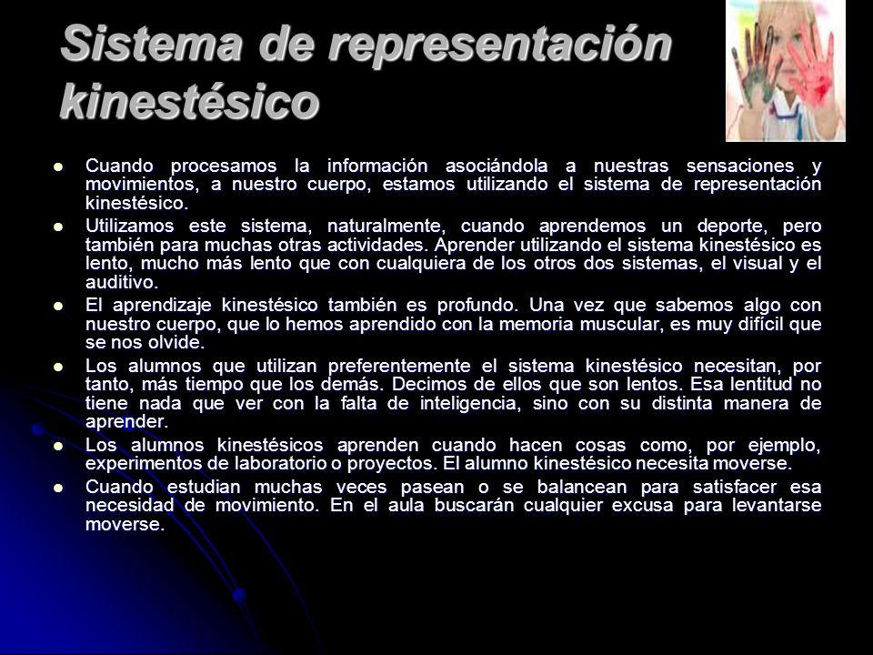Sistema de representación kinestésico
