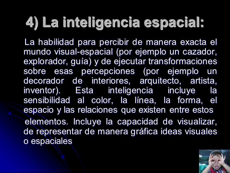 4) La inteligencia espacial: