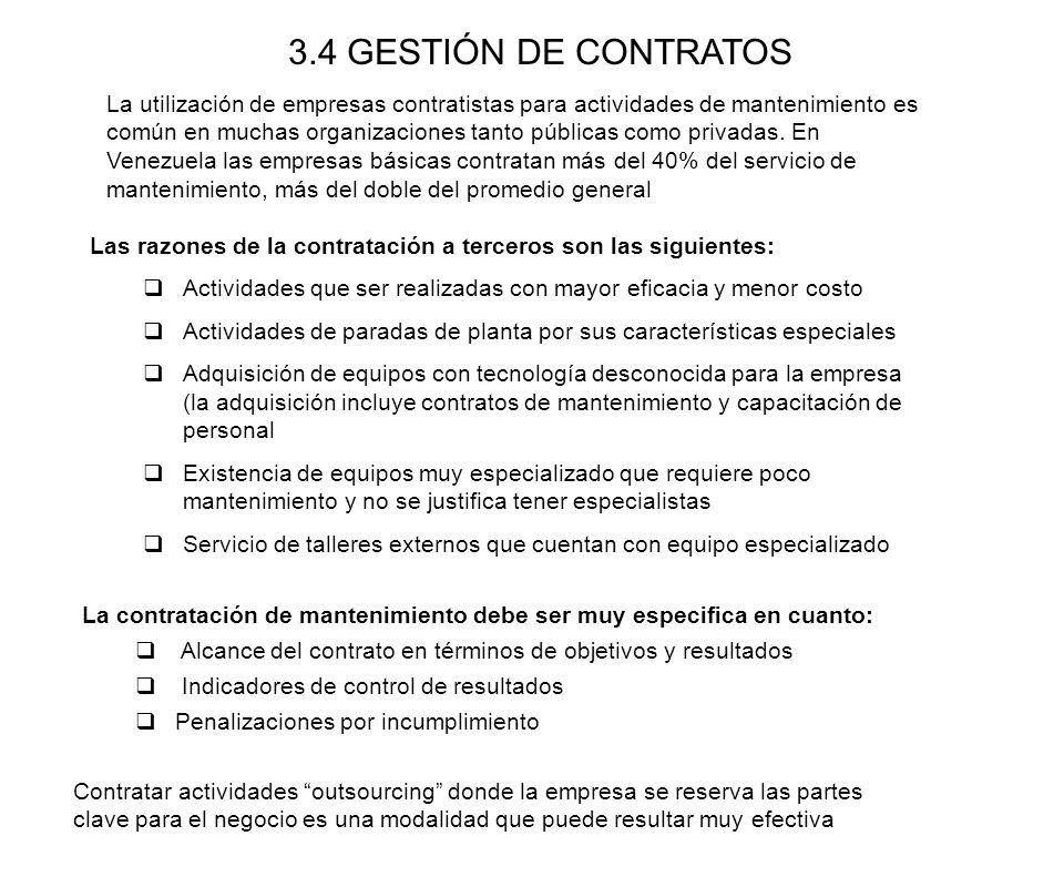 3.4 GESTIÓN DE CONTRATOS