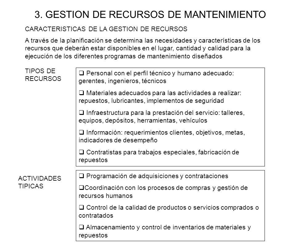 3. GESTION DE RECURSOS DE MANTENIMIENTO