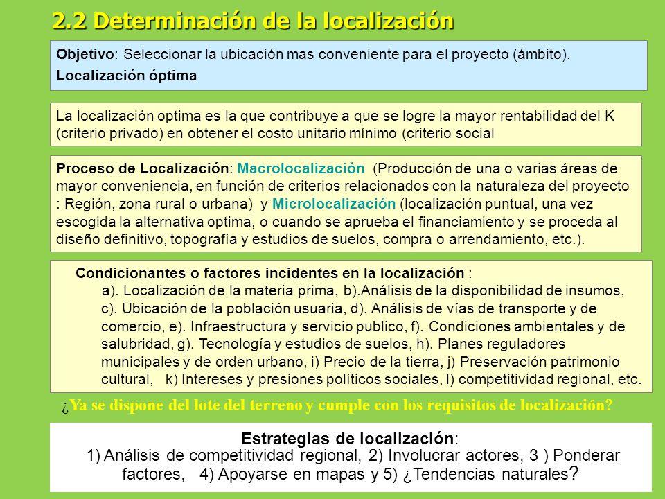 M dulo 4 de formulacion de proyectos de inversi n ppt for Factores para seleccionar el terreno para el vivero