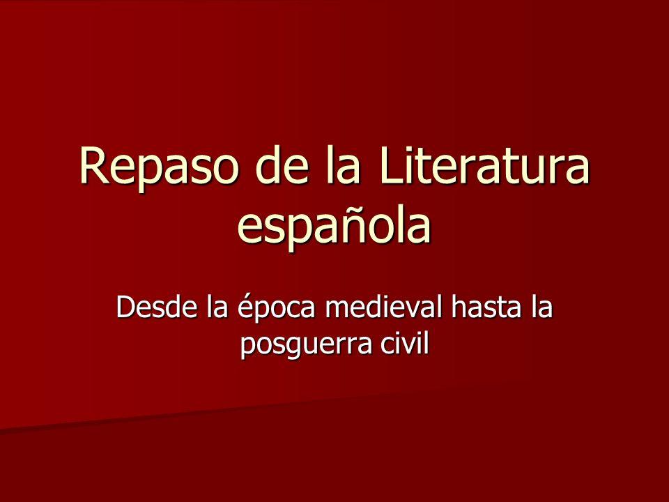 Repaso de la Literatura española