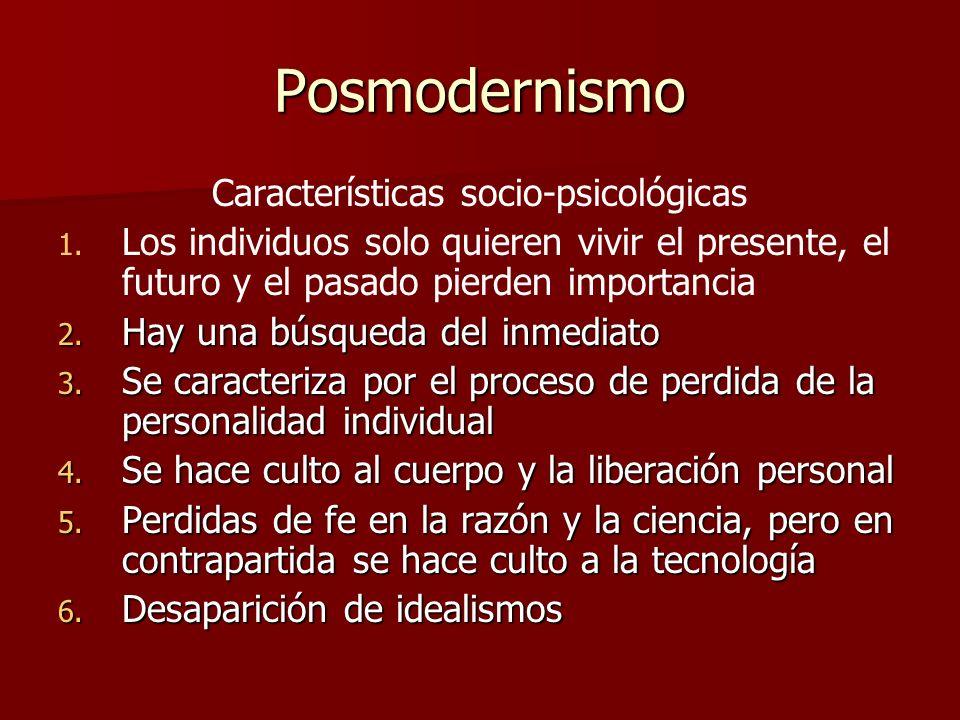 Características socio-psicológicas