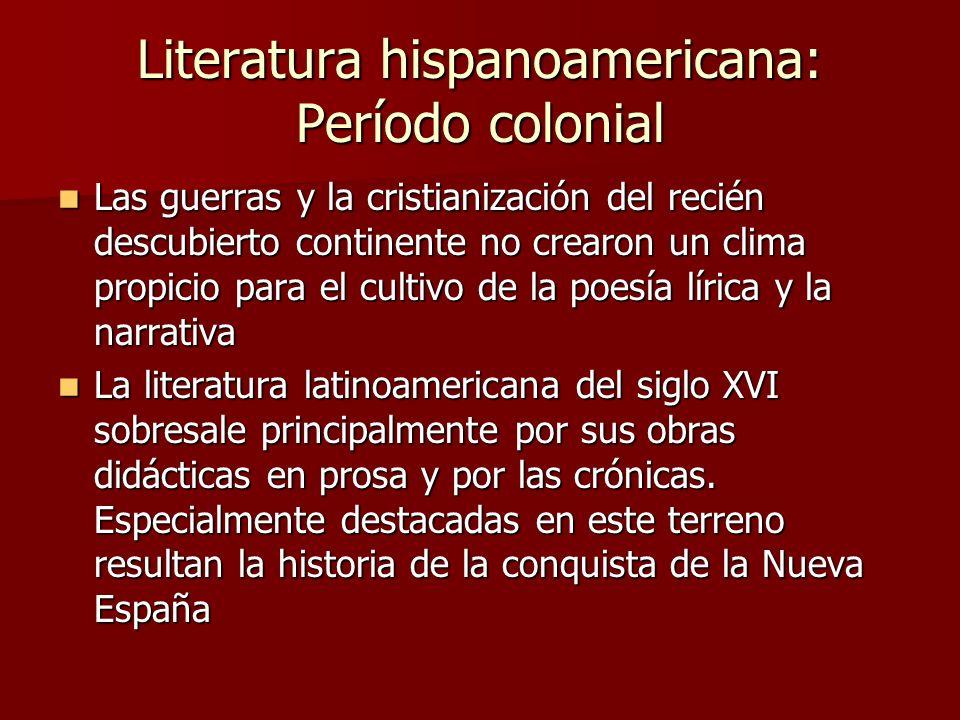 Literatura hispanoamericana: Período colonial