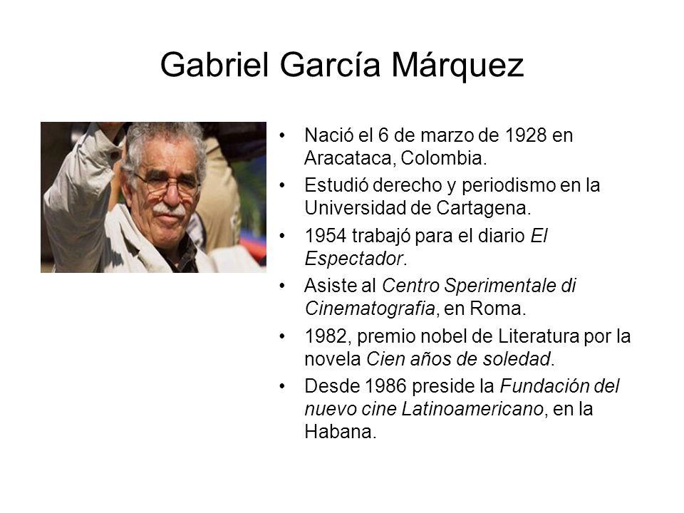 Contenido Biograf 237 A Del Autor Gabriel Garc 237 A M 225 Rquez Ppt