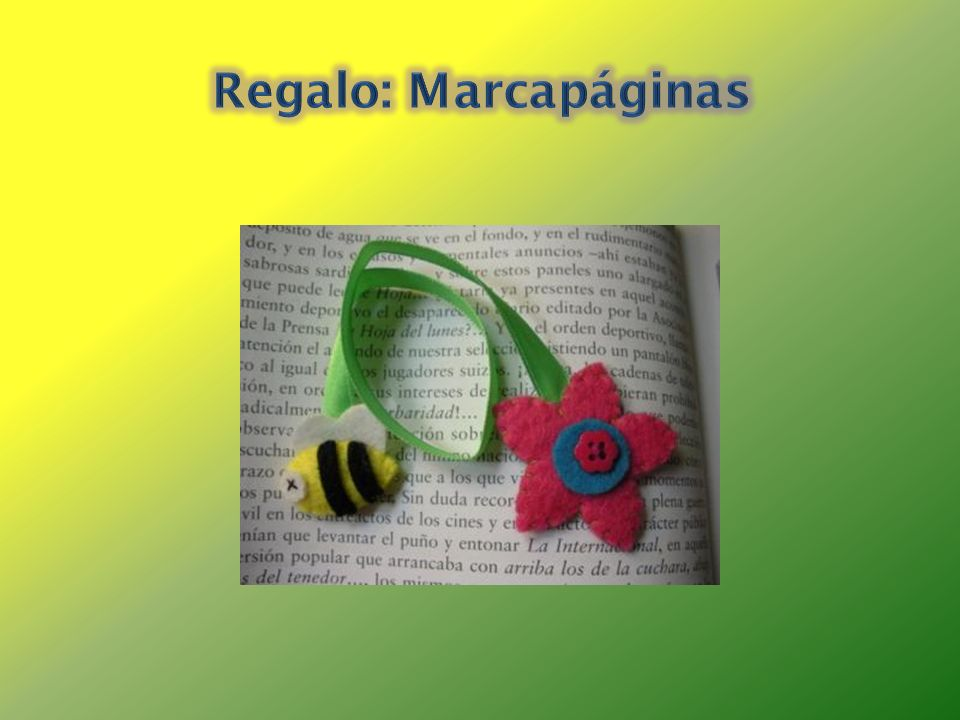 Regalo: Marcapáginas
