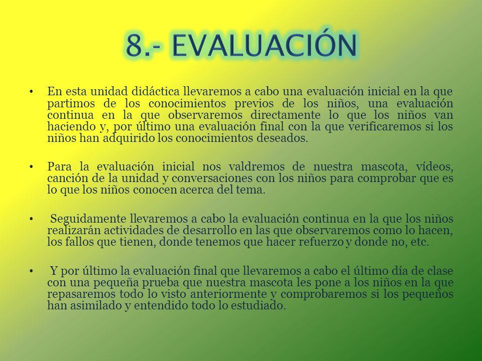 8.- EVALUACIÓN