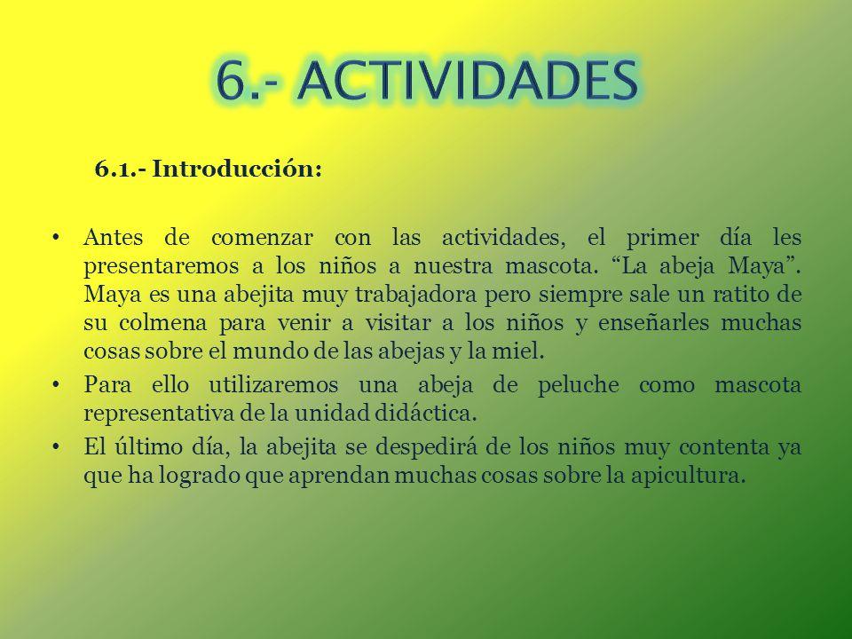 6.- ACTIVIDADES 6.1.- Introducción: